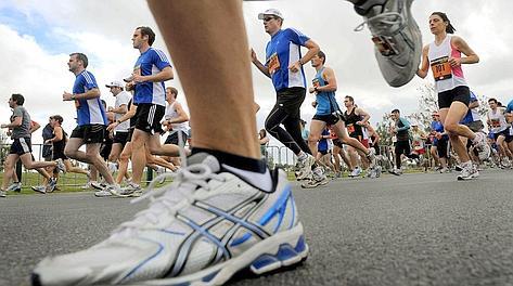 La scarpa giusta per chi fa jogging. Afp