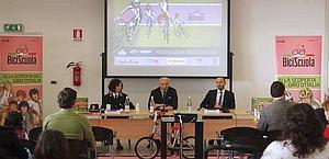 Un momento della conferenza stampa svoltasi a Roma