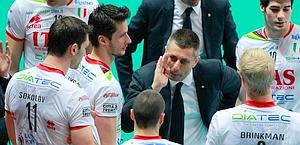 Time out sulla panchina di Trento. Legavolley