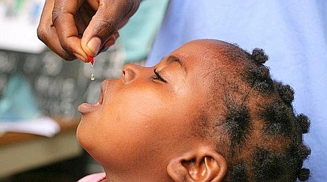 Una foto simbolo della campagna contro la mortalità infantile