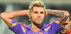 Lo svizzero di origini kosovare Valon Behrami, laterale della Fiorentina. Ansa