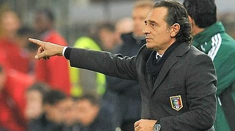 Cesare Prandelli, c.t. azzurro a Euro 2012. Ansa