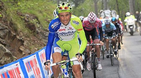 Ivan Basso al Pian dei Resinelli. LaPresse