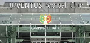 L'ingresso dello Juventus Stadium. LaPresse