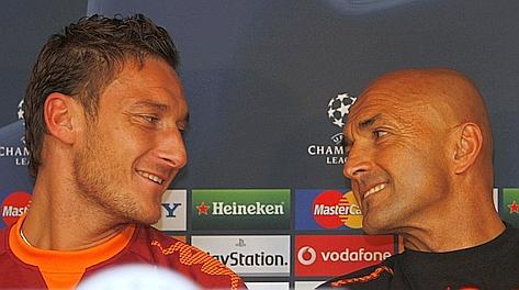 Francesco Totti e Luciano Spalletti. Ap