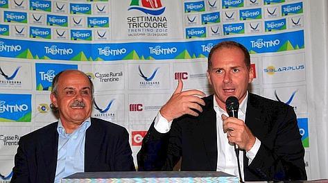 Il presidente federale Renato Di Rocco e il d.g. di RCS Sport, Michele Acquarone