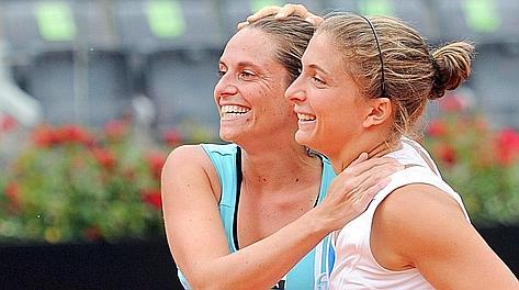 Roberta Vinci e Sara Errani, sette successi in doppio nel 2012. Ansa
