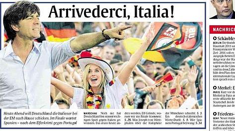 La prima pagina di Abendzeitung