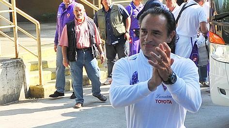 Prandelli ha allenato la Fiorentina dal 2005 al 2010. Archivio