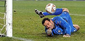 Samir Handanovic, 27 anni, portiere di Udinese e Slovenia. Afp