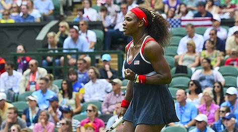 Serena Williams in gran forma. Afp