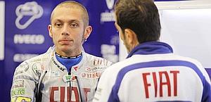 Valentino Rossi ai tempi della Yamaha. LaPresse