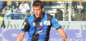German Denis, attaccante dell'Atalanta. Archivio