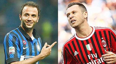 Giampaolo Pazzini, 28 anni, e Antonio Cassano, 30. Gaspor