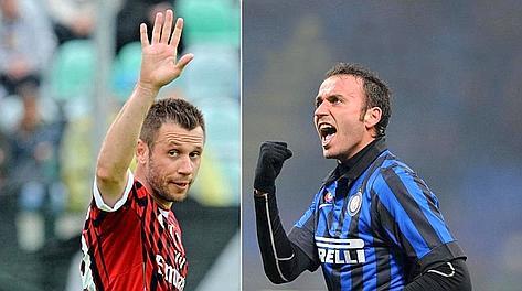 Antonio Cassano, 30 anni, e Giampaolo Pazzini, 28. Gaspor
