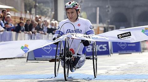 Alex Zanardi, 45 anni, ha esordito in handbike nel 2007. Eidon