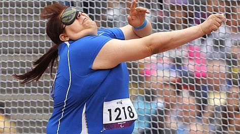 Assunta Legnante, record del mondo nel lancio del peso. Ap