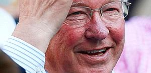 Anche Alex Ferguson in tribuna. Reuters