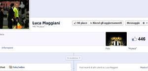 La pagina Facebook di Luca Maggiani con il logo della Juve