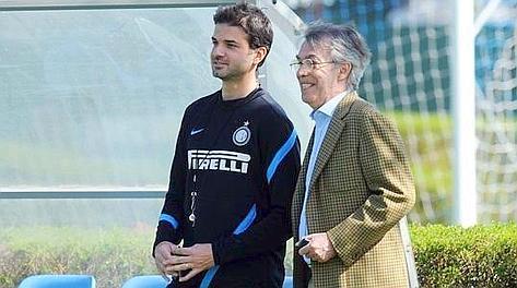 Andrea Stramaccioni e Massimo Moratti a colloquio. Archivio