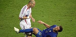 Zidane e l'ormai celebre testata a Materazzi. Afp