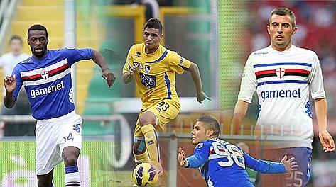 Da sinistra: Obiang, Quintero, Krsticic e Icardi. Ansa/LaPresse