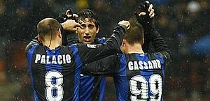 Milito, 8 goals, while Palacio and Cassano have scored 5 each. LaPresse