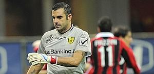 Stefano Sorrentino, in uscita dal Chievo. Piace ad Inter e Palermo. Ansa