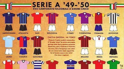 Le 22 squadre della Serie A 1949/50. Italica