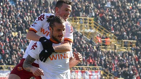 Osvaldo, in gol al Dall'Ara. Ansa