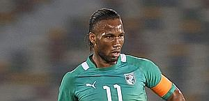 Didier Drogba, nuova stella del Galatasaray. Afp