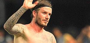David Beckham, dopo l'esperienza a Los Angeles rischia di restare senza maglia. Epa