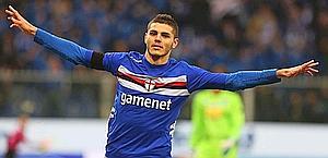 Mauro Icardi, talento della Sampdoria. LaPresse