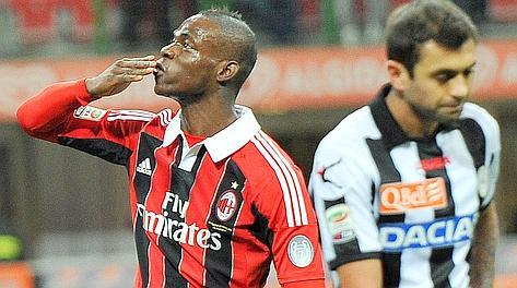 Mario Balotelli, in gol dopo 25 minuti. Ansa