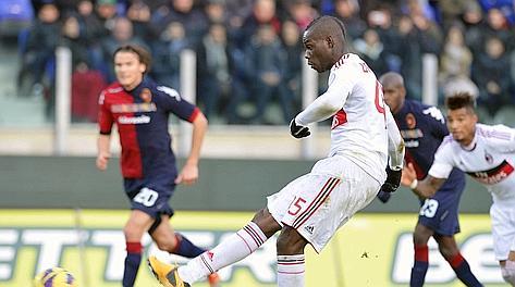 Mario Balotelli impeccabile dal dischetto. Afp