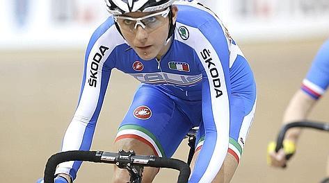 Giorgia Bronzini in pista. Bettini