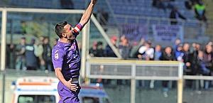 Manuel Pasqual esulta dopo il gol. Ansa