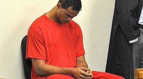 Bruno Fernandes durante un interrogatorio in carcere. Ansa