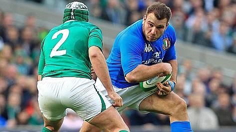 Lorenzo Cittadini, 30 anni, contro l'Irlanda un anno fa. Afp