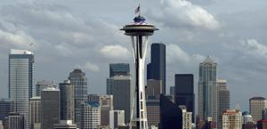 Lo skyline di Seattle, che in estate aspetta il ritorno della Nba. Ansa