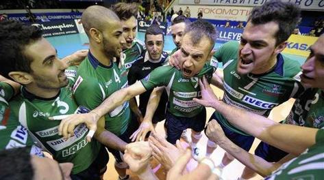 L'urlo della vittoria di Cuneo. Foto Cev