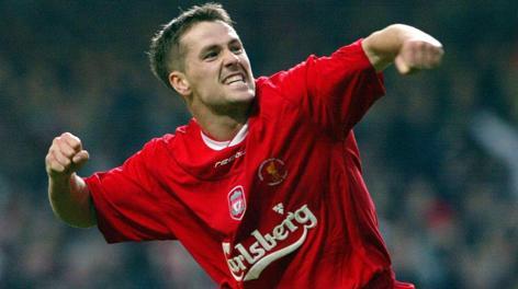 3 marzo 2003: Michael Owen festeggia il gol segnato allo United con la maglia del Liverpool. Ap