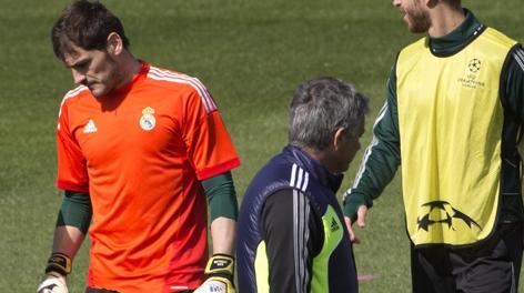 Casillas e Mourinho si evitano all'allenamento pre Galatasaray. Ap