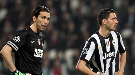La delusione di Buffon e Bonucci. Forte