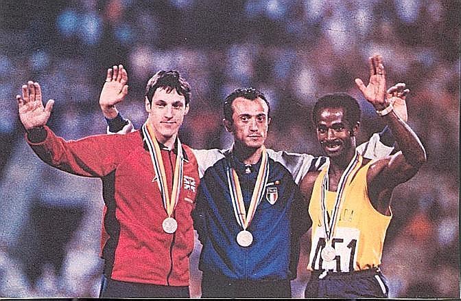 Il podio dei 200 metri all'Olimpiade di Mosca 1980