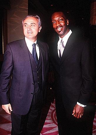 Mennea e Michael Johnson, lo statunitense che ad Atlanta 1996 abbassò il record del mondo dell'azzurro nei 200 metri da 19''72 a 19''32