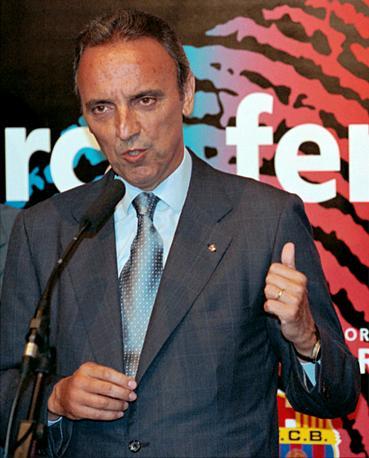 """Joan Gaspart (ex presidente del Barcellona): """"Mourinho è una persona  che conquista""""."""