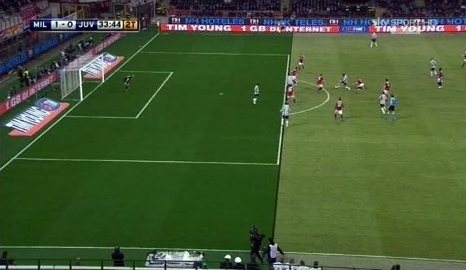 Nel secondo tempo, poco prima dell'1-1, Matri è tenuto in gioco da Abate sull'assist di Vidal. Ma il gol è annullato. SkySport