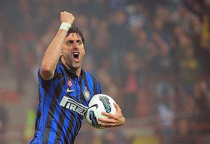 La grinta di Milito. Afp