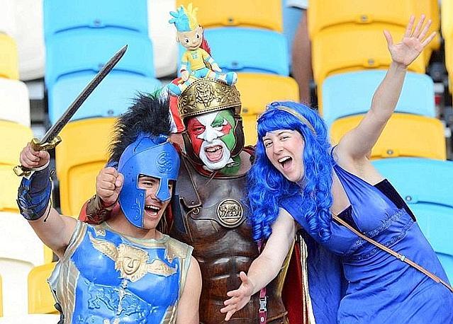 Gladiatori azzurri. Ansa